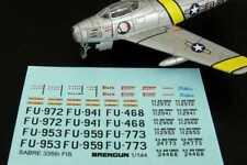 Brengun Models 1/144 F-86F SABRE JET 335th Fighter Interceptor Sqd Decal Set
