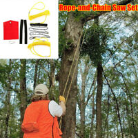 """High Reach Limb Rope-and-Chain Saw w/48"""" Chain Branch Tree Saw Trimmer Rope Hot."""