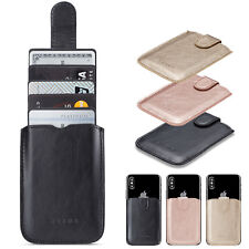 Adhesive Pocket Stick On Credit Wallet 5 Cards Holder Pouch Case For Cell Phone