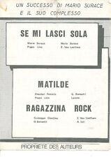 PARTITION MUSICALE RAGAZZINA ROCK SE MI LASCI SOLA