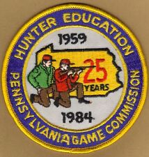 """Pa Penna Pennsylvania Game Commission NEW 4"""" 25 Yr. Hunter Education Patch"""
