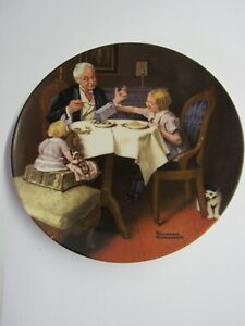 Edwin M. Knowles Norman Rockwell Decorative Plate 1985 The Gourmet With COA