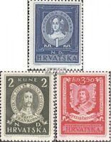 Kroatien 103-105 (kompl.Ausg.) postfrisch 1943 Persönlichkeiten