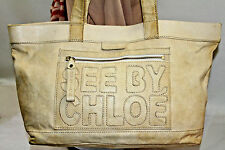 SEE BY CHLOE DISTRESSED LEATHER LARGE TOTE    100% AUTHENTIC  MSRP$685