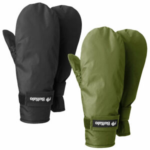Buffalo DP Mitts Mittens Gloves Windproof Water-Repellent Breathable Pile-Lining