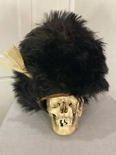 Rare Antique Military 1800s era Bearskin Cap Grenadier Guard Hat Helmet Uniform