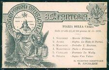 Militari 84º Reggimento Fanteria Venezia Programma Musicale cartolina XF5559