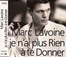 """CD MAXI 4 T BOITIER CRISTAL MARC LAVOINE """"JE N'AI PLUS RIEN A TE DONNER"""""""