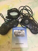 2 SG PROPAD Controllers SV-439 for Sega Genesis with Manual