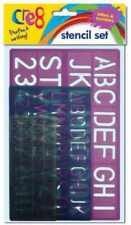 Prezzo DI MASSA - 12 x 3pc Set di stencil lettere, numeri assortiti Taglie testo perfetto
