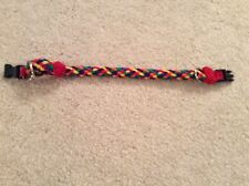 Multicolored Braided Dog Collar 12 inches
