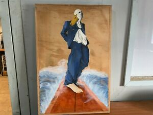 Jack II - Painting - Acrylic on Plywood - Surfing Duck - Tanya Howard - #SRC-M