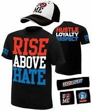 John Cena Rise Above Hate Mens Costume Hat T-shirt Wristbands