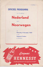 Programme / Programma Holland v Norway 04-11-1959 friendly