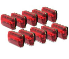 Red Waterproof LED Bike Bicycle Light Flashing Safety Rear Taillight 10 Pack