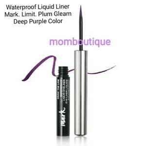 Avon Mark Draw the Line Waterproof Liquid Eye Liner LIMIT/PLUM GLEAM Purple