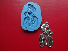 Bike Cyclist Cycling Silicone Cake Decorating Mould 100% Food Grade