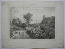 Tancarville Seine inferieure Seine Maritime Normandie Orig Lithografie 1850