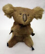 Vintage Antique (Kangaroo Fur) Stuffed Koala Bear- Leather nose and claws
