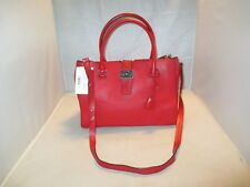 Michael Kors Handbag Bond Large Leather Satchel, Shoulder Bag, Tote $498 Red