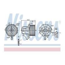 Fits Audi A4 B8 2.0 TDI Quattro Genuine Nissens Interior Heater Blower Motor Fan