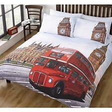 LONDON SINGLE DUVET COVER RED BUS BIG BEN