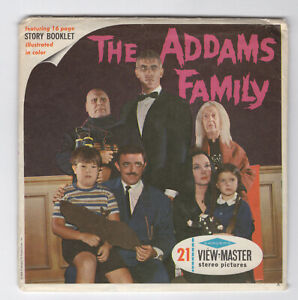 The Addams Family 1965 Sawyer's View-Master Packet B-486 VG Some light wear
