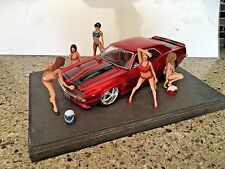 1/24 1/25 or G Scale Resin Model Kit, Sexy action figure Car Wash 5 figures
