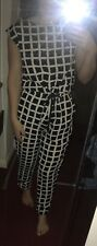 GLAMOROUS Black & White Checked Jumpsuit Size Small