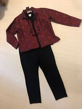 Women's Chico's 1.0 (8) Outfit: Jkt;Top; Pants. NWT! Necklace. EUC. 1B