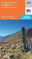 OS Explorer Map (255) Llangollen and Berwyn by Ordnance Survey, NEW Book, FREE &