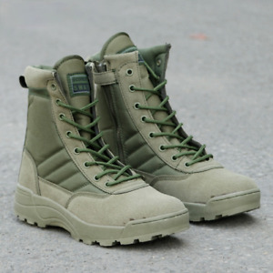 Military Leather Combat Boots Men Combat Infantry Tactical Boots Army Bots Shoes
