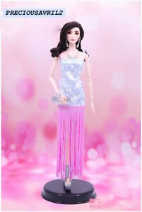New Barbie doll clothes outfit princess wedding dress gown pink cocktail dress.
