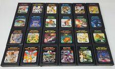 Atari 2600 Video Game LOT - 24 Cartridges Nice Condition Plus FREE Case!