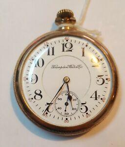 Hampden Watch, 17 Jewels, 16 Size, Referee Case