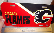 Calgary Flames NHL hockey team plastic License Plate, made in the USA