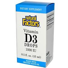 Natural Factors Vitamin D3 Drops - 1000iu - 15ml - The Sunshine Vitamin