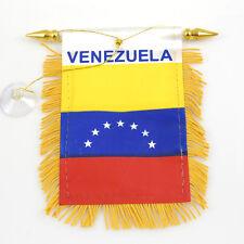 """""""VENEZUELA"""" FLAG MINI BANNER CAR WINDOW MIRROR"""