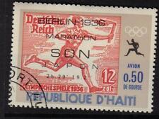 OLYMPICS BERLIN 1936 GERMANY MARATHON CTO NH HAITI 1969 STAMPS ON STAMPS