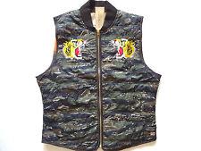 Ralph Lauren Denim and Supply Tiger Patch Green Camo Lightweight Vest Slim L