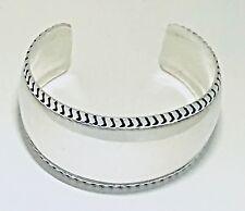 Vintage Repoussee' Cuff / Bracelet Solid 925 Sterling Silver Handmade Santa Fe