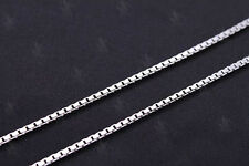 """925 Sterling Silver 18"""" 1mm Box Chain Necklace~ New"""