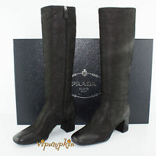 Prada Calzature Donna Capra Antic Leather Boots Black 1W418F New 11 US 41 EU