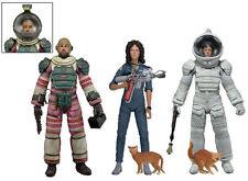 Alien Conjunto de 3 figuras serie 4 Mono y Compresión Traje Ripley & Dallas NECA