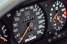 1x Brabus Mercedes Benz TACHOMETER Adesivo 190e w201 w124 w202 w126 w123 AMG