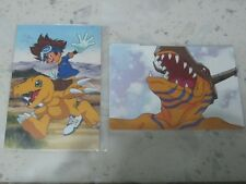 2 x Taichi Tai Kamiya & Agumon & Greymon Post Card Photo (Digimon Adventure tri)