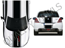 Suzuki swift sport racing stripes mk 1 2 3 graphic decals bonnet roof boot OT10