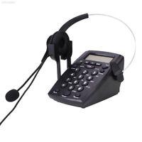 Business Call Center Dialpad Telephone Headset Headphone with Dial Keypad