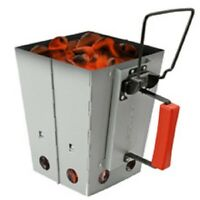 CharbabGrill Collapsible Charcoal Chimney Starter and Grill Combo