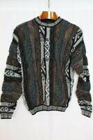Vintage Bachrach Men's Multicolor 80's Streetwear Sweater Coogi Style Size L